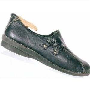 Clarks Bendables Women's Black Leather Loafers 9 M